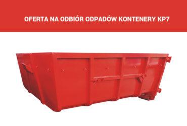 Odbiór odpadów kontenery KP7